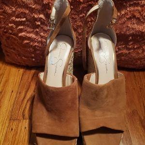 Jessica Simpson Suede Wedge Sandals